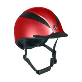 Air-Tech Deluxe Riding Hat Dial Fit- Metallic Ruby