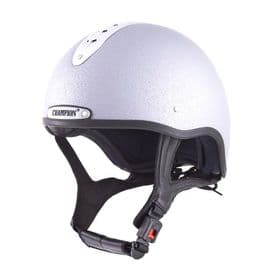 Champion Pro-Ultimate Snell Riding Hat - Silver