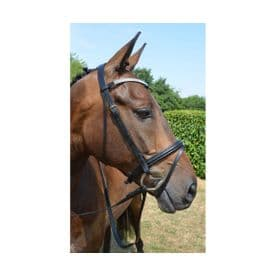 Hy Diamond Flash Bridle with Rubber Reins~Black