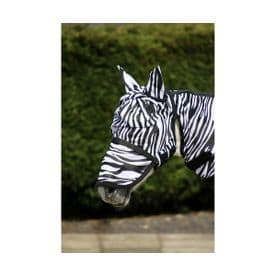 Hy Equestrian Zebra Fly Mask with Ears and Detachable Nose
