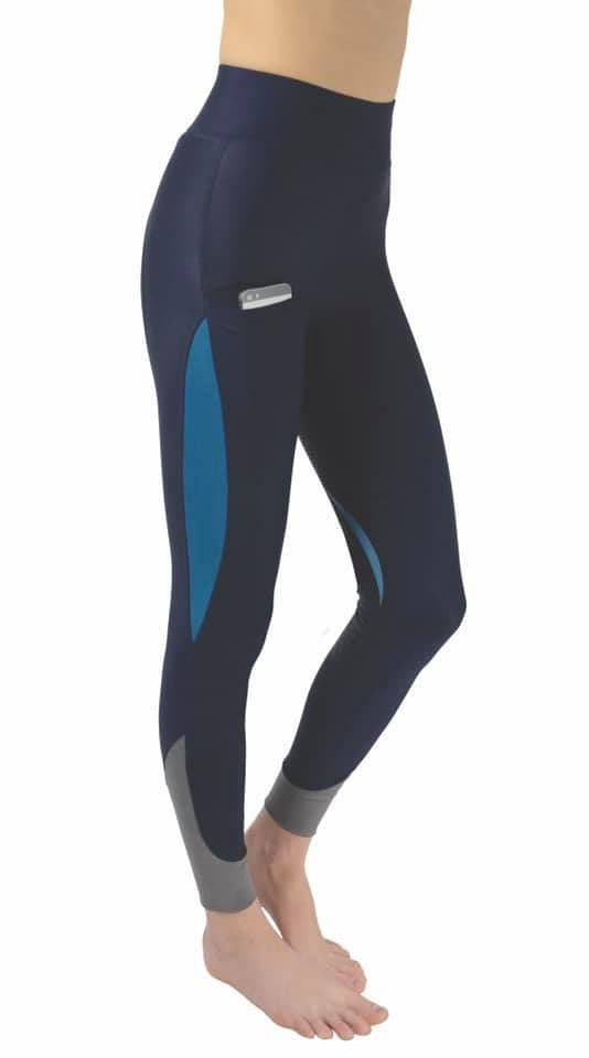 Hy Sport Active Silicone Riding Skins- Navy/Aegean Green