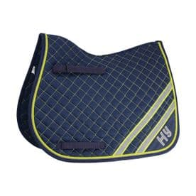 HyWITHER Reflector Saddle Pad~Yellow/Silver