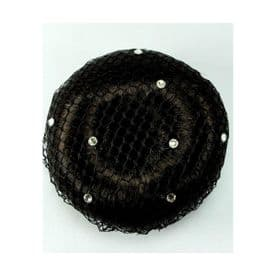 ShowQuest Bun Net with Swarovski Crystals. Pack of 5