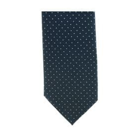 ShowQuest Pin Spot Tie- Navy/White