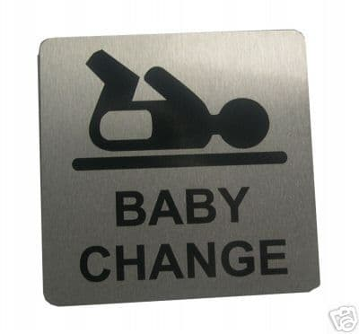 BABY CHANGE  METAL SIGN