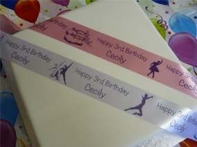 BALLET theme personalised ribbon