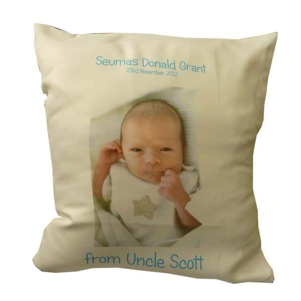 Personalised cushion cover for Baby Christening Gift / Present | Hot Graphix & Signs
