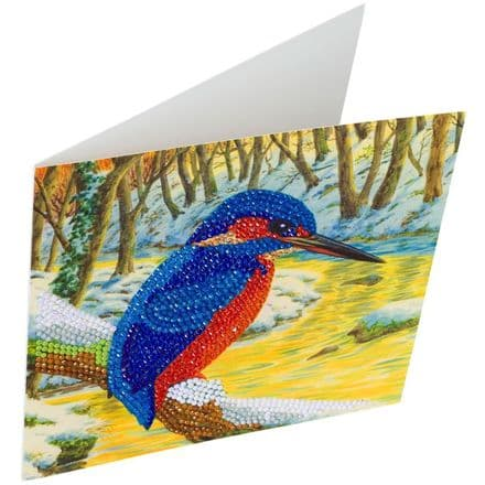 Crystal Art D.I.Y Kingfisher bird Card Kit