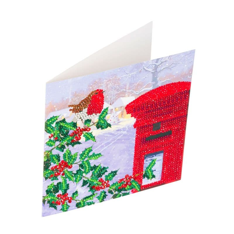 Crystal Art D.I.Y Robin Post box Christmas Card Kit
