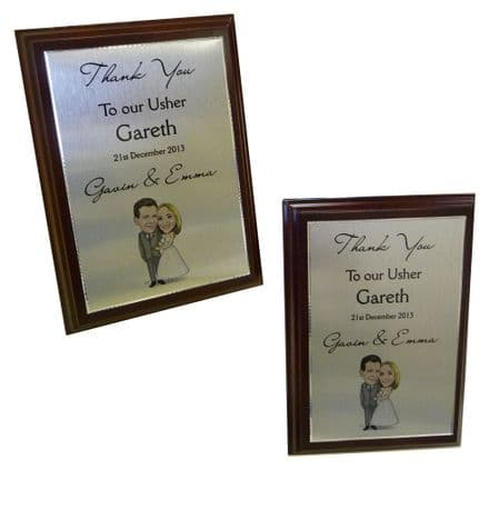 Metal TROPHY or THANK YOU PLAQUE