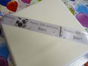 MUSICAL INSTRUMENTS THEMED PERSONALISED RIBBON