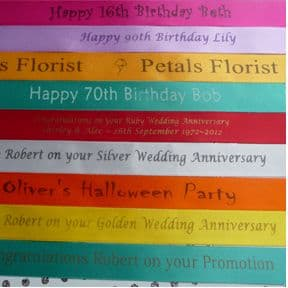 Personalised 20mm width ribbon for any event or occasion