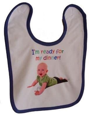 PERSONALISED BABY BIB newborn baby or christening gift | Hot Graphix & Signs