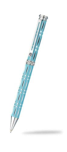 Ballpoint Pen Crystal Silver Plate Diamond Cut Luxurious Packaging All Colours