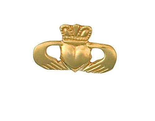 Claddagh Lapel Pin Cravat Pin 9ct Gold Made To Order in Jewellery Quarter B'ham