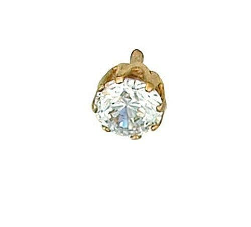 Cubic Zirconia Tie Tack Tie Pin Gold Made To Order in Jewellery Quarter B'ham