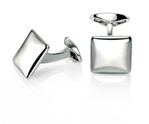 Cufflinks Fred Bennett Sterling Silver Square Cufflinks With Rounded Profile