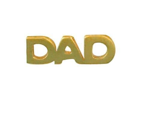 Dad Lapel Pin Cravat Pin Yellow Gold Made To Order in Jewellery Quarter B''ham