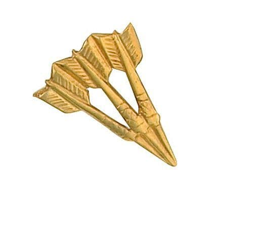 Darts Lapel Pin Cravat Pin Yellow Gold Made To Order in Jewellery Quarter B'ham