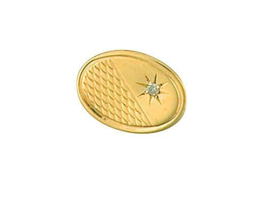 Diamond Lapel Pin Cravat pin 9ct Gold Made To Order in Jewellery Quarter B''ham