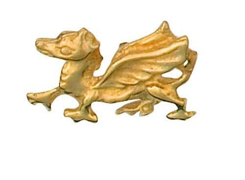 Dragon Lapel Pin Cravat Pin 9ct Gold Made To Order in Jewellery Quarter B'ham