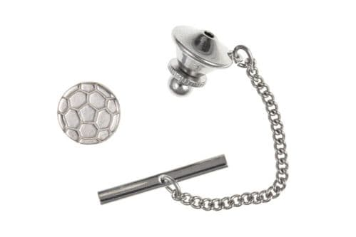 Football Tie Tack Solid Sterling Silver Men's Gents Pin