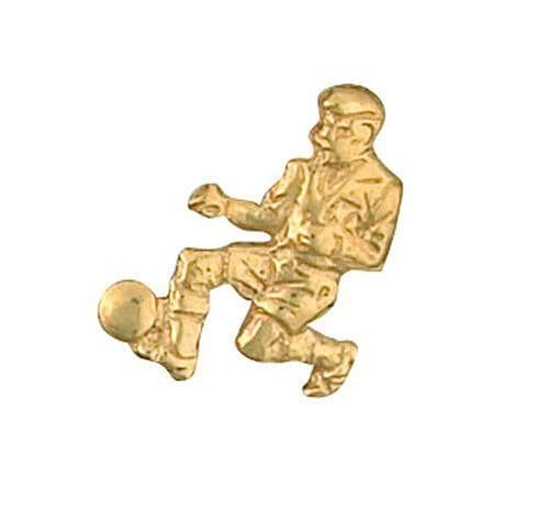 Footballer Tie Tack Tie Pin Yellow Gold Made To Order in Jewellery Quarter B'ham