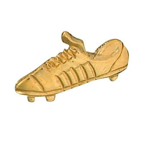 Gold Football Boot Lapel Pin Cravat Pin Made To Order in Jewellery Quarter B'ham