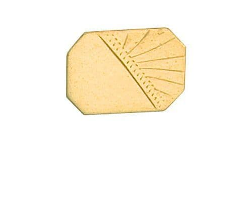 Half Engraved Stick Pin 9ct Yellow Gold Made To Order in Jewellery Quarter B'ham