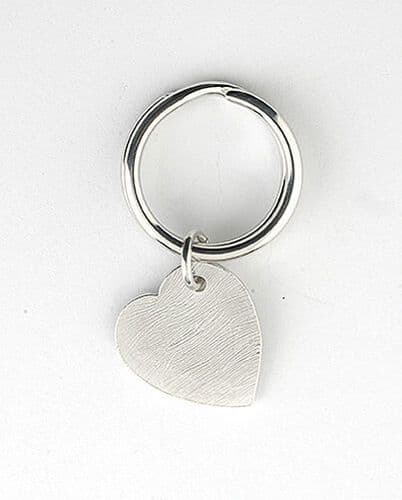 Heart Key Ring Sterling Silver Made To Order in Jewellery Quarter B''ham