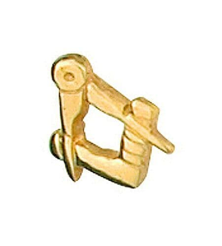 Masonic Tie Tack Tie Pin Yellow Gold Made To Order in Jewellery Quarter B'ham