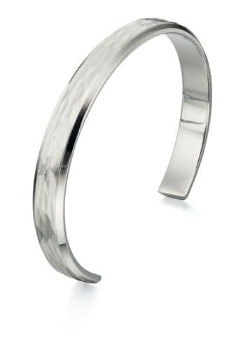 Mens Bangle Fred Bennett Stainless Steel Bangle With Textured Finish