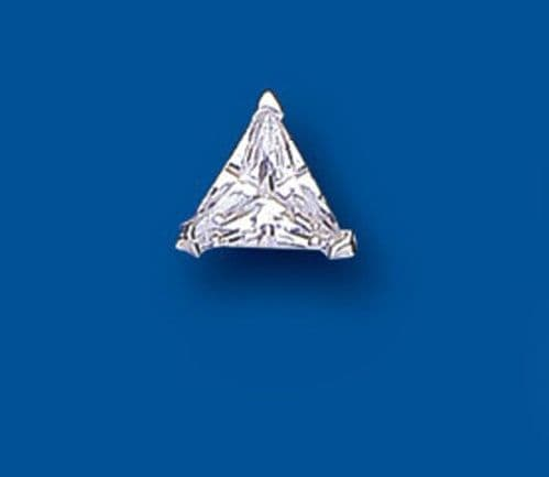 Mens Earring Trillion Triangle Solitaire Earring 925 Sterling Silver Earring