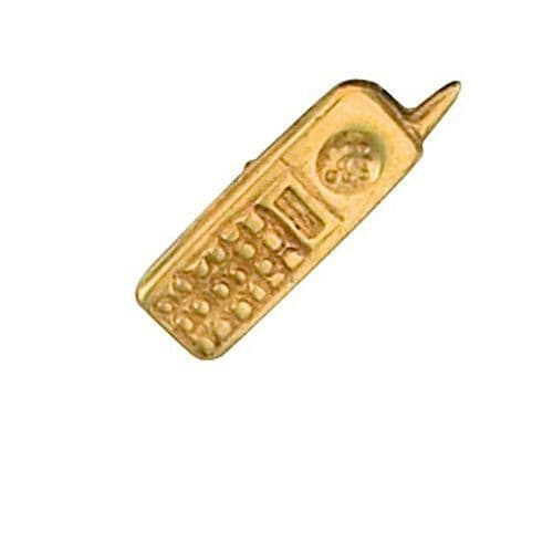 Mobile Phone Lapel Pin Cravat Pin Gold Made To Order in Jewellery Quarter B''ham