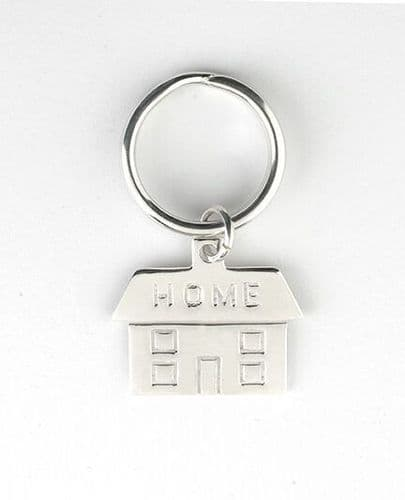 New Home Key Ring Solid Silver Hallmarked Handmade