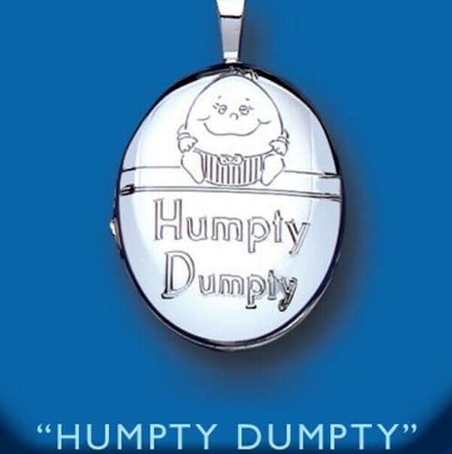 Silver Oval Christening Locket Humpty Dumpty 925 Hallmark Baby Jewellery