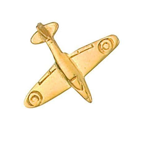 Spitfire Lapel Pin Cravat Pin 9ct Gold Made To Order in Jewellery Quarter B''ham