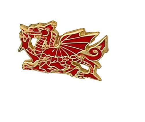 Welsh Dragon Lapel Pin Cravat Pin Gold Made To Order in Jewellery Quarter B'ham