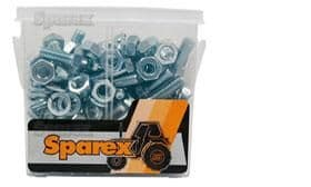 100 Assorted UNF Nuts, Bolts & Washers