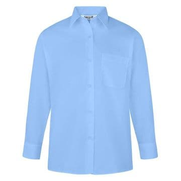 Blouse Non-Iron - Twin Pack - LONG SLEEVE - SKY BLUE - GIRLS