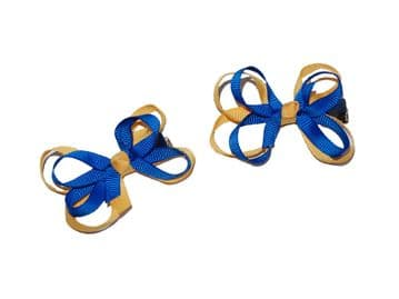 Bow Clips - ROYAL/GOLD