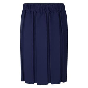 Box Pleat Skirt - GS3002 - NAVY