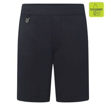 Boys Elastic Back Pull-Up Shorts - BS3074 - NAVY
