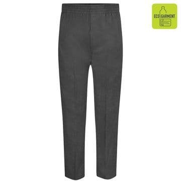 Boys Full Elastic Pull-Up Trousers - BT3046 - GREY