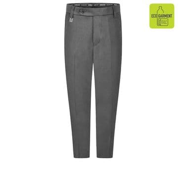 Boys Slim Fit Trouser Long Length Leg Trousers - BT3065L - GREY