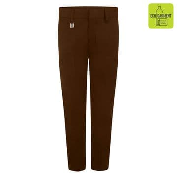Boys Standard Fit Junior Trousers - BT3052 - BROWN