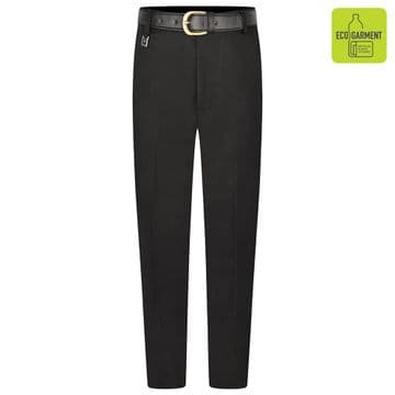 Boys Tailored Fit Long Length Leg Trousers - BT3066 - BLACK