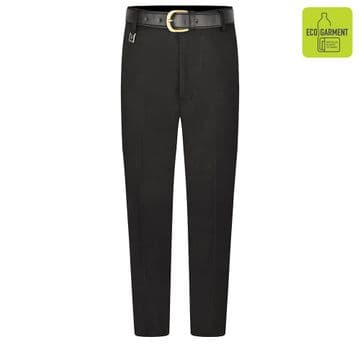 Boys Tailored Fit Regular Length Leg Trousers - BT3064 - BLACK