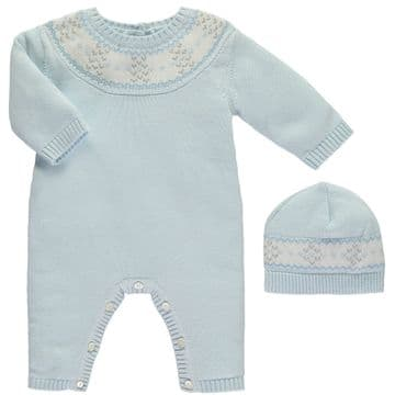 Emile et Rose 1731pb Knit AIO With hat  Available Sizes  Newborn/1/3 months