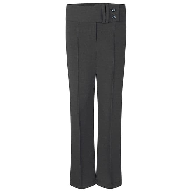 Girls Two Button Lycra Trousers - GB3043 - GREY